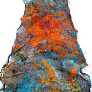 nuno felted scarf -Mexican moon- 3