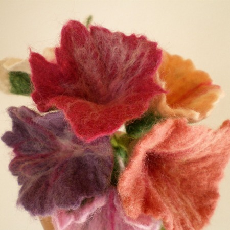 felted flower bouquet -unique moments- 4