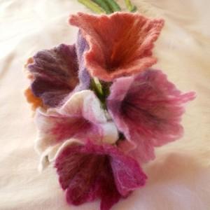 felted flower bouquet -unique moments 1-