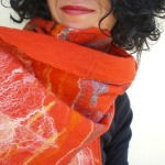felted scarf -Marrakesh night market -