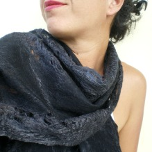 cobweb felted scarf -Joy of Darkness-