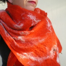 nuno felted scarf -times like these-