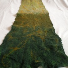 cobweb felted scarf -the grass was greener
