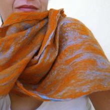 cobweb felted scarf -immenso-