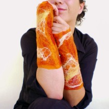 felted arm warmers -Enigmas-