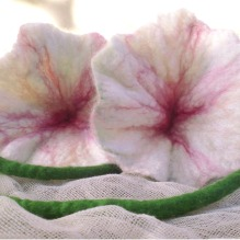 felted flowers -Wedding made in Heaven-