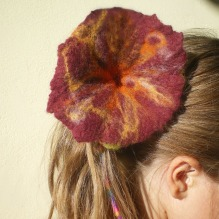 felted baby flower -return to innocence-
