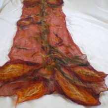 nuno felted scarf -imagine me & you-