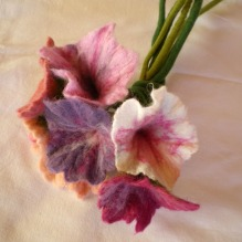 felted flower bouquet -unique moments-