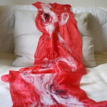 nuno felted scarf -Charlotte sometimes-
