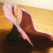 nuno felted flower brooch -you re so vain-