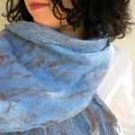 cobweb felted scarf -hazy shade of winter-