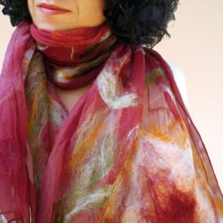 nuno felted scarf -Joey-