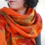 nuno felted scarf-shawl -my funny Valentine-