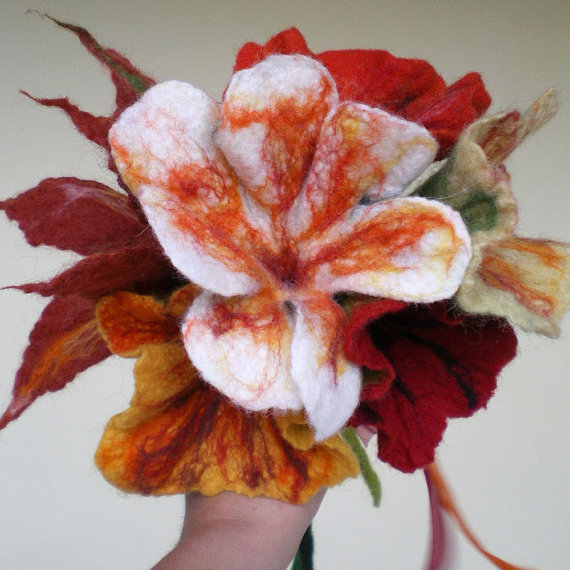Felted Flower Bouquet Unique Moments 2 Qaraquls Shop