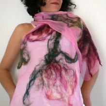 nuno felted scarf -running up that hill-