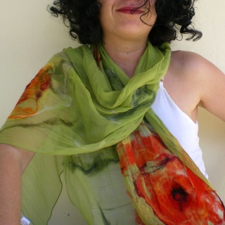 nuno felted scarf -wondrous place-