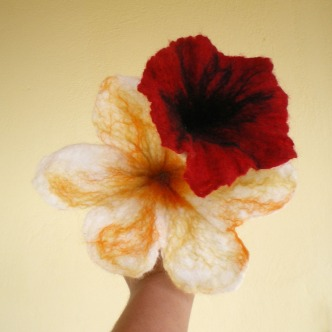 felted flower bouquet -unique moments- 2