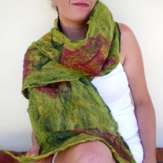 cobweb felted scarf -all i need-
