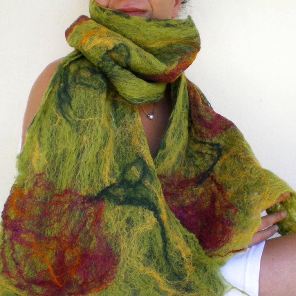 cobweb felted scarf all i need qaraqul s shop