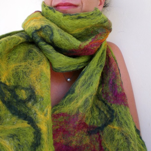 cobweb felted scarf -all i need-