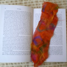 nuno felted bookmarker -tutti frutti-