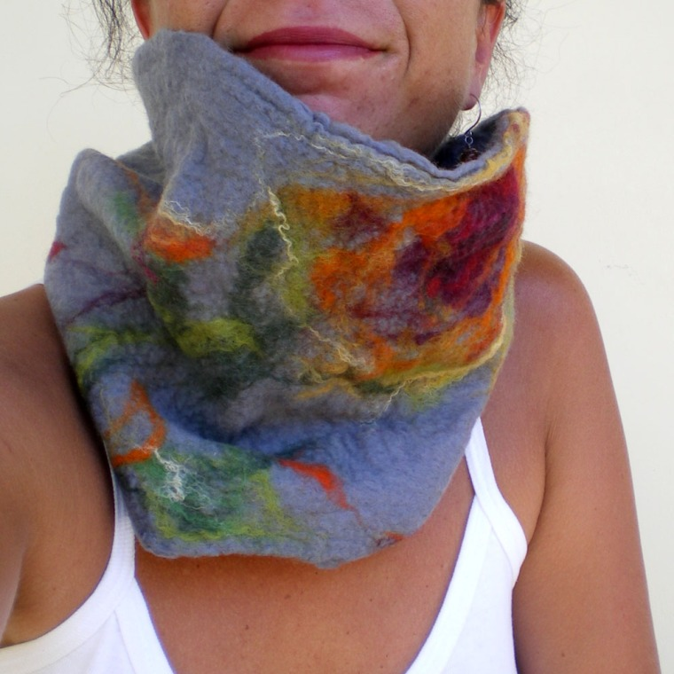 felted neck warmer -winter winter-