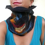 felted neck warmer -here comes the rain again-