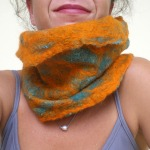 felted neck warmer -She was me-