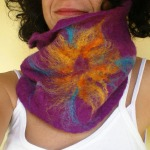 felted neck warmer -ultraviolet-