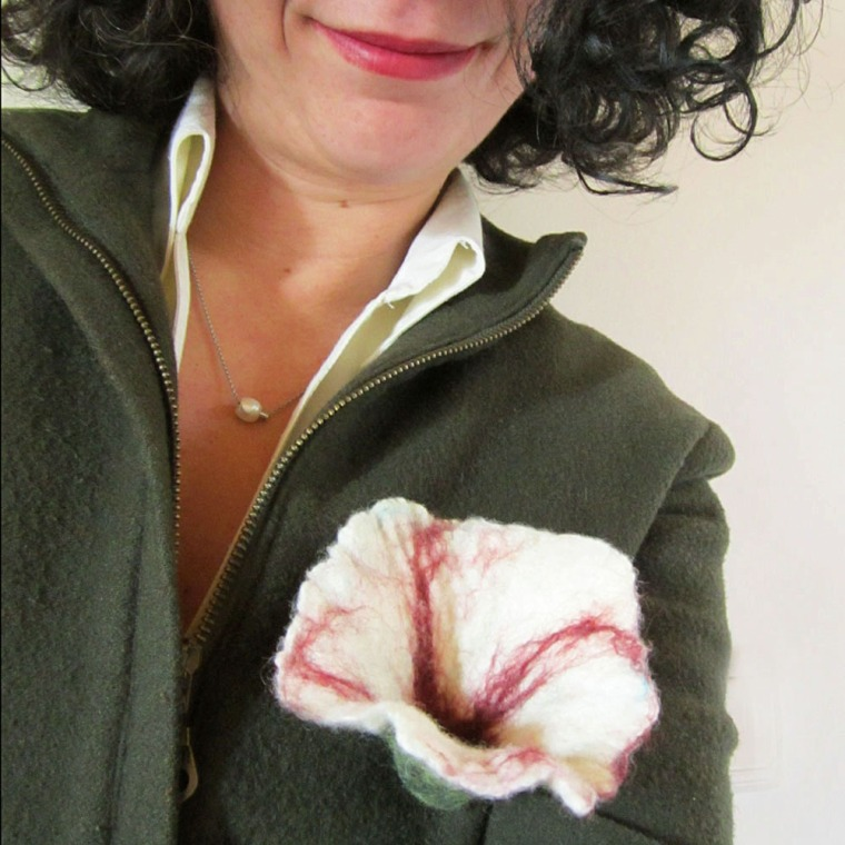 felted flower brooch -Uptown Girl-