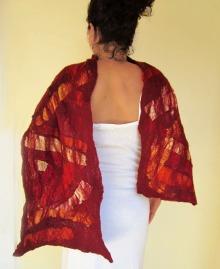 nuno felted scarf -summer wine-