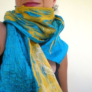 nuno felted scarf -waterloo-