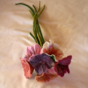 felted flower bouquet -unique moments 1-