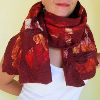 nuno felted scarf -summer wine-