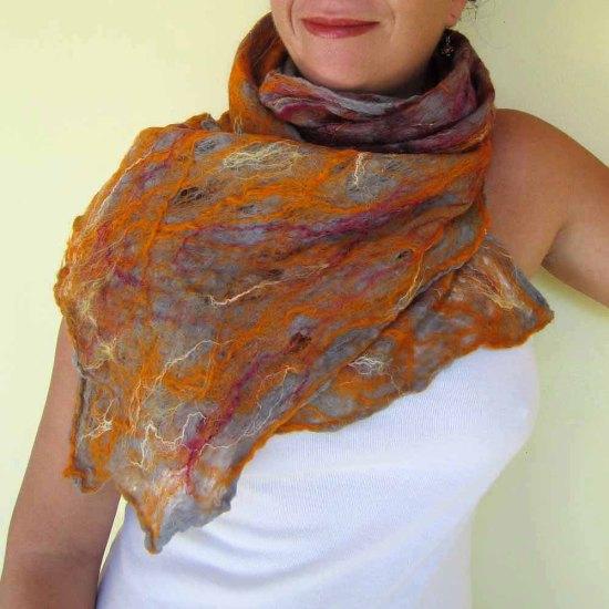 cobweb felted scarf -desire-