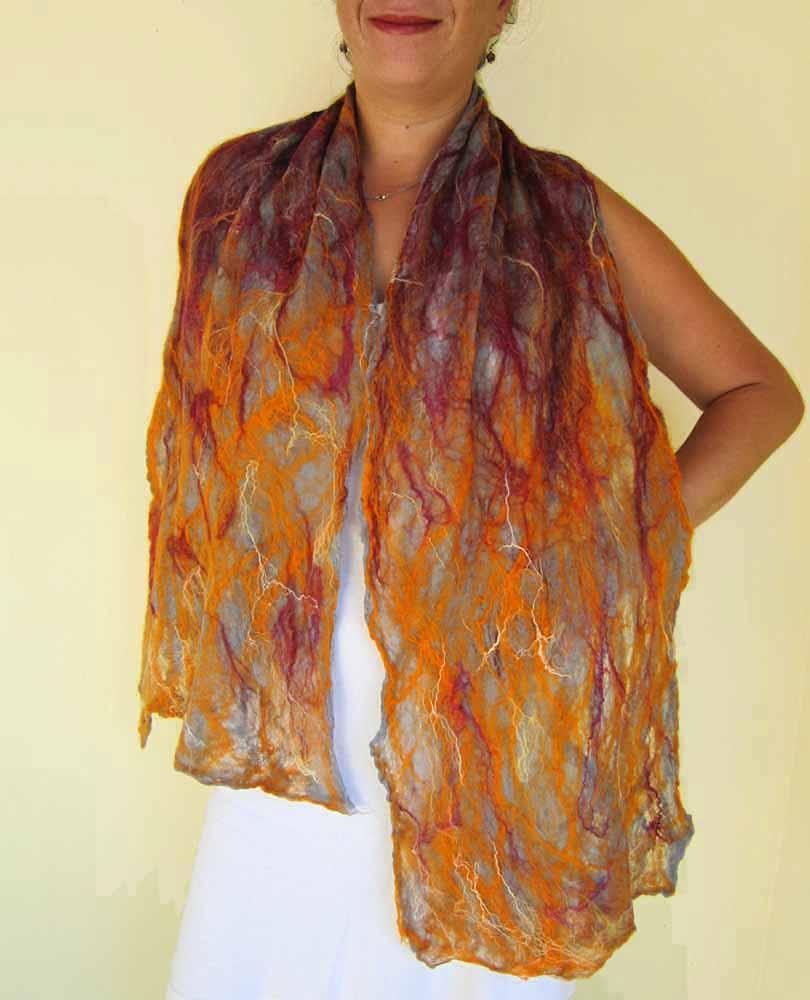 cobweb felted scarf desire qaraqul s shop