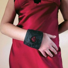 nuno felted cuff -moonlight shadow-
