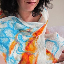 cobweb felted scarf: spring elements -energy-