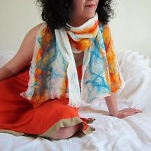 cobweb felted scarf: spring elements -energy-