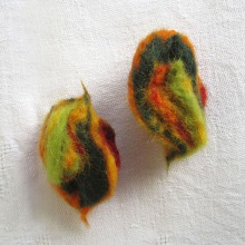 felted brooch -fruits of spring-