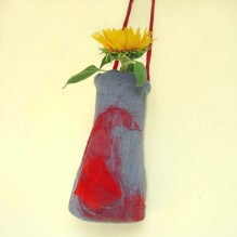 nuno felted vessel -marigold-
