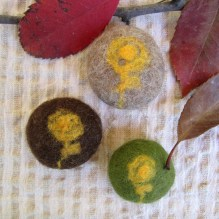 felted pebbles -earth-