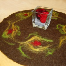 felted table runner -mother earth-
