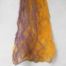 cobweb felted scarf -violet fire-