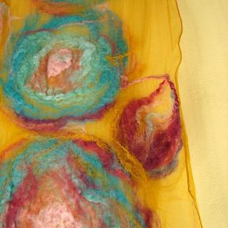 nuno felted scarf -infinity-