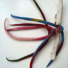 felted hairband -red hot chili peppers-
