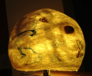 felted lamps -planets-