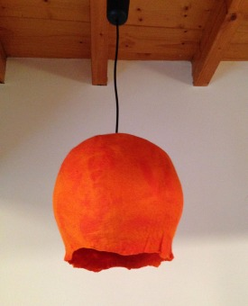 felted lamps -planets