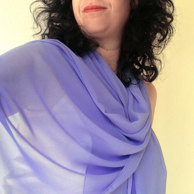 chiffon scarf -lavender-